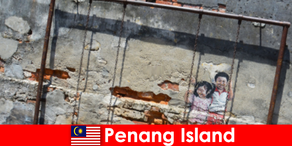 Fascynująca i różnorodna sztuka uliczna na wyspie Penang zadziwia nieznajomych