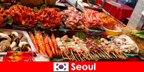 Seul jest również znany wśród podróżników z pysznego i kreatywnego jedzenia ulicznego