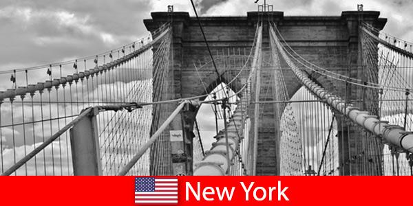 Spontaniczna podróż zagraniczna do metropolii Nowego Jorku w Stanach Zjednoczonych