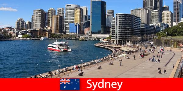 Panoramiczne widoki na całe miasto Sydney Australia dla gości z całego świata
